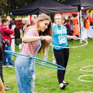 A Circus skills workshop in Bath